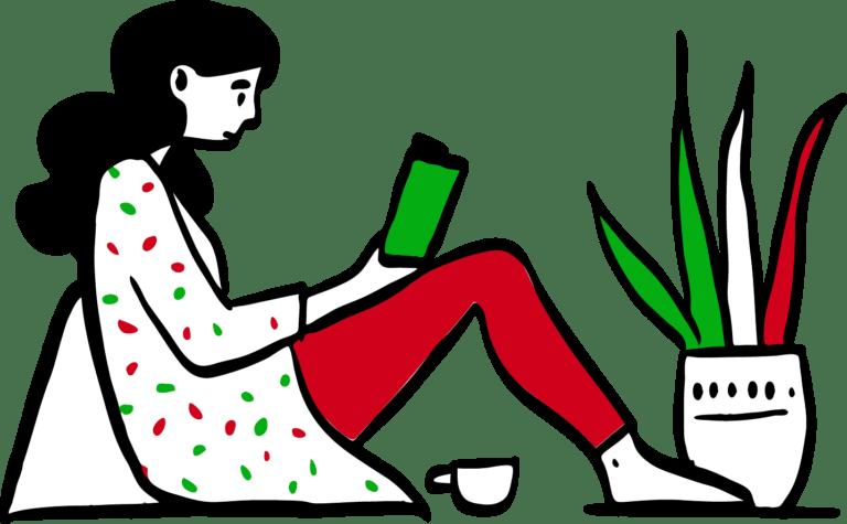 Reading Side Doodle